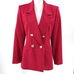 Yves Saint Laurent Red Jacket 8 Vintage 90's Wool